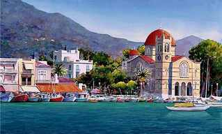 Beautiful Paintings of Greece