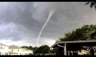Incredible Waterspout Hits Florida!