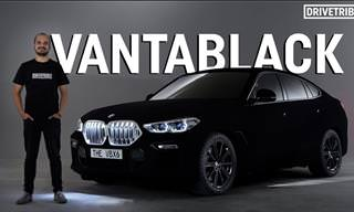 Behold the Darkest Car on Earth: the Vantablack BMW