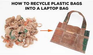 How to Reuse Old Plastic Bags to Make a Laptop Bag