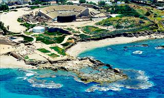 View the Ancient City of Caesarea From Sunrise to Sunset