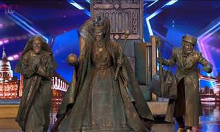 Unexpected Performance by Statues in Britain's Got Talent