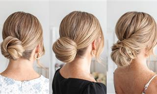 Hairstyle Tutorial - 3 Universally-Flattering Low Buns