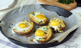 A Delicious Twist to Breakfast with a Twice-Baked Potato