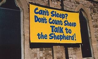 The Funniest Church Signs