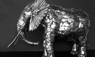 Artist From Ohio Makes Stunning Sculptures From Silverware