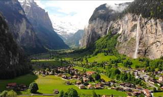 A Cozy Swiss Village in the Midst of Rocky Alpine Cliffs