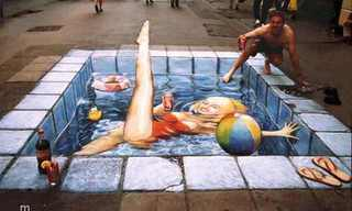 Incredibly Realistic 3D Sidewalk Art