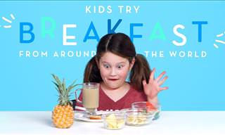 Watching Kids Try New Foreign Breakfasts Is Too Funny!