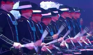 The Top Secret Drum Corp's Show of Precision