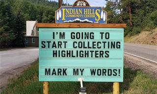 Indian Hills Are Back With 30 More Puntastic Signs!