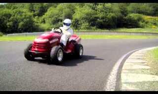 Honda Presents: Lawnmower at 130 mph!