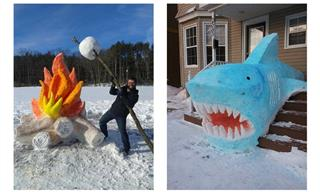 What's Winter Without Some Cool Snow Sculptures?!