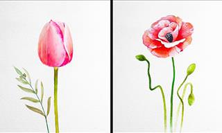 These Delicate Flower Paintings Will Soothe Your Soul