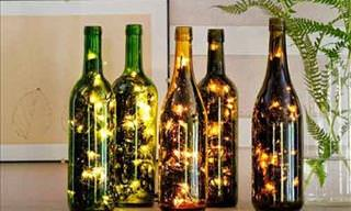 Got Empty Wine Bottles? Here's What You Can Do With Them