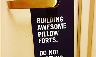 "16 Funny ""Do Not Disturb"" Signs That Are Too Creative!"