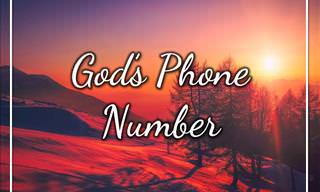 A Beautiful Prayer: God's Phone Number