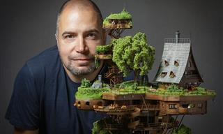 This Finely Crafted Mini Village Model is Simply Stunning