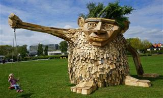 Magical Wooden Trolls Made by Danish Artist Thomas Dambo