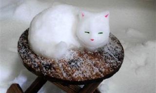 Tokyo Citizens Created Some Strange Snowmen This Winter