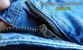 The Best Quick Fix for a Broken Zipper