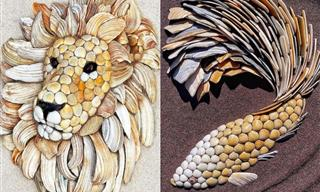 Lovely Animals Sculptures Made Entirely of Seashells
