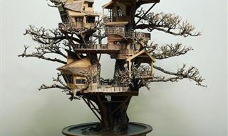 Enchanting Miniature Treehouses By the Late Dave Creek