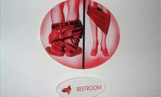 Funny Bathroom Signs (Adult)