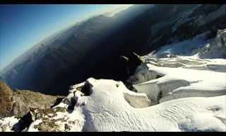 Amazing: Speed Flying Over Monte Blanc!