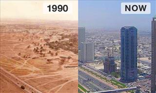 13 Then and Now Photos of Famous Cityscapes