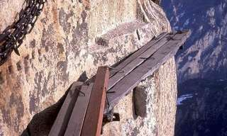 Mt. Huashan's Dangerous Trail...