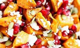 Simple Sweet Potato and Pomegranate Salad