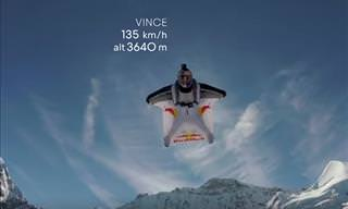 Daring Wingsuit Flyers Fly Straight into a Moving Plane!