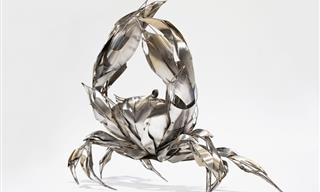 Sculptor Makes Stunning Animals from Tiny Shards of Metal