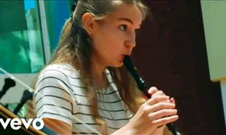 This Girl Only Needs a Simple Flute to Delight Your Ears