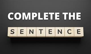 English Test: Complete the Sentence Correctly!