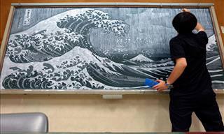 Hirotaka Hamasaki's Stunning & Varied Chalkboard Artwork