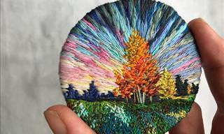 Vera Shimunia's Stunning Embroidery Art