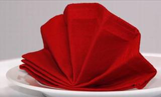 Amaze Your Guests With These Napkin Folding Techniques