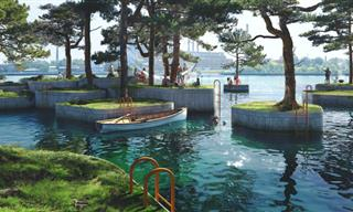 This New Floating Park Consists of Several Roaming Islands