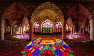 The Pink Mosque of Shiraz, Iran