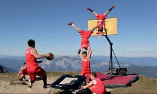 Watch This Acrobatic Basketball Display Team in Stunning Locations