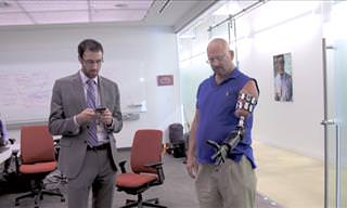 The Man with a Mind-Controlled Robot Arm