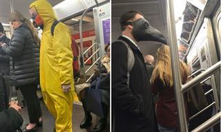 Strange Masks That Make Taking the Subway Even Weirder