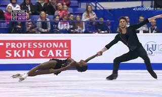 Vanessa James and Morgan Cipres Skate to Bronze