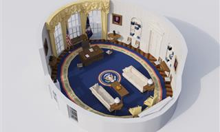 3-D Illustration Show Changes in Interior Design of the Oval Office
