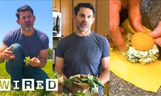 Survival Expert Shows How to Make Dinner from Garden Weeds