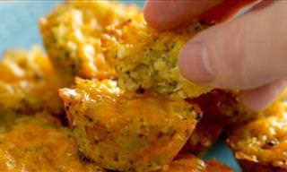 Delicious Broccoli & Cheddar Bites