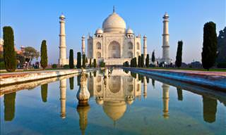 Admire the Taj Mahal