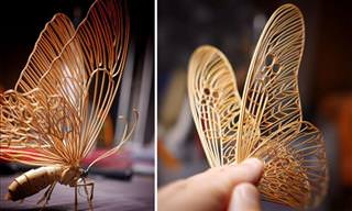 Japanese Artist Creates Intricate Insects